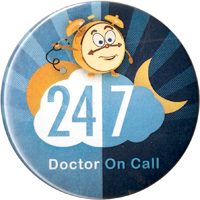 doctor on call sticker